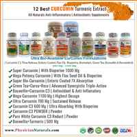 Pure Curcumin Turmeric Supplements