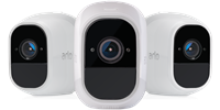 How do I set up and sync my Arlo wire-free cameras