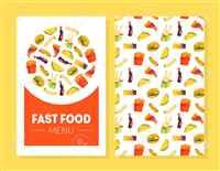 mini menu cards printing