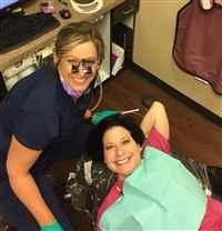 Irving dentist of Erickson Dental working on teeth whitening