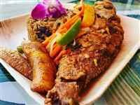 Vegan Curry Chicken with Pelau