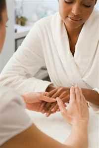 Manicure treatment at Mitchell's Salon & Day Spa